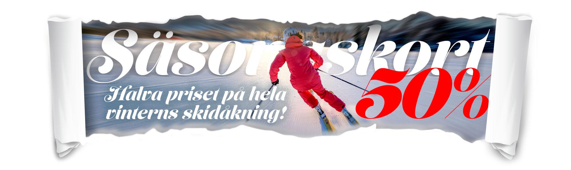 Järvsöbacken Säsongskort Halva priset
